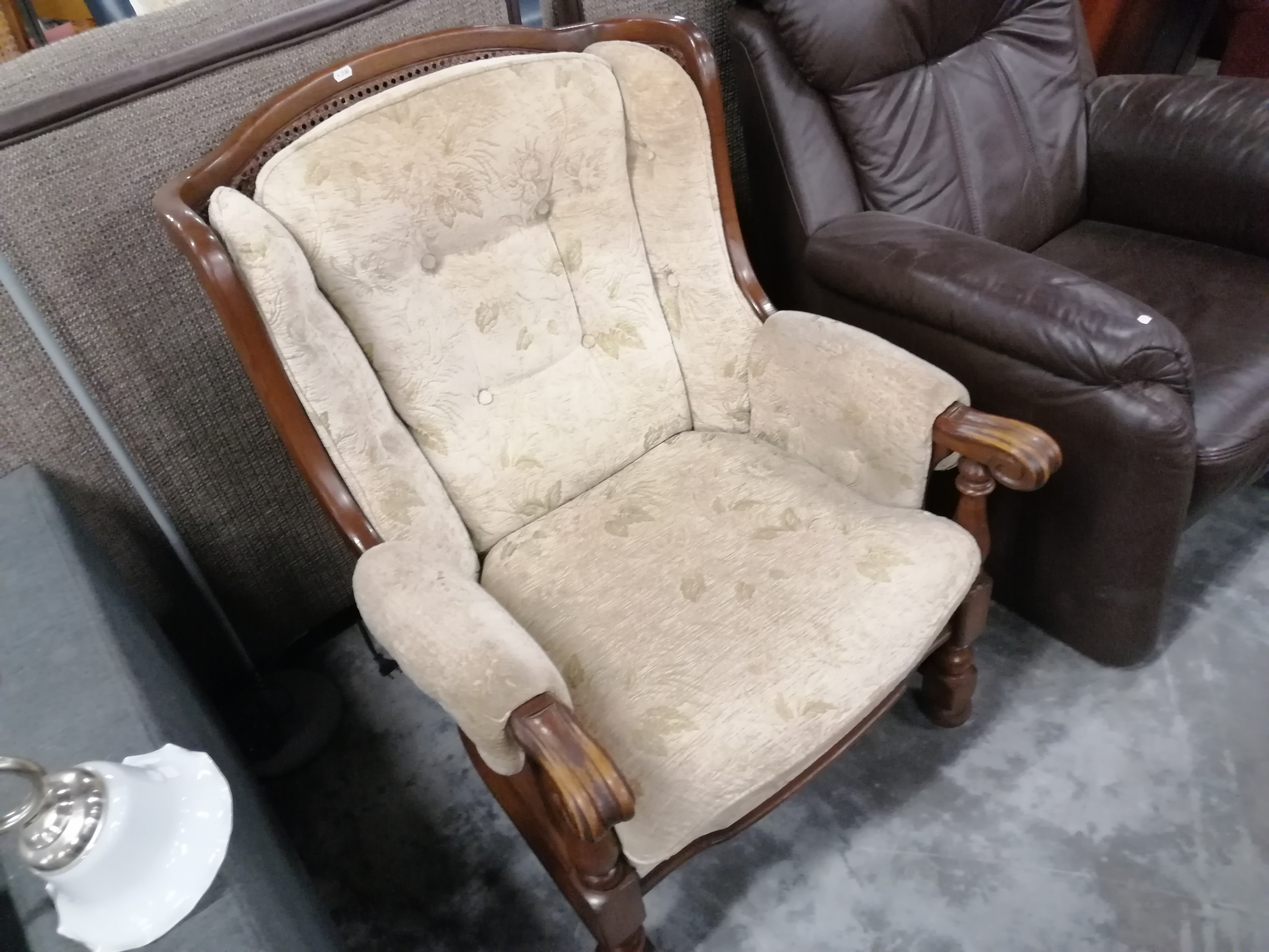 Afbeelding 3 (4505) Stoffen fauteuil